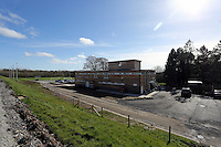 Pictured: Exterior view of the main building. Friday 07 March 2014<br /> Re: Opening of the new training facility for Swansea City Football Club at Fairwood in the outskirts of the south Wales city.