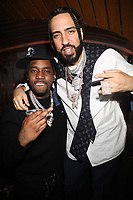 NEW YORK, NY- SEPTEMBER 12: Fivio Foreign and French Montana pictured at Swizz Beatz Surprise Birthday Party at Little Sister in New York City on September 12, 2021. Credit: Walik Goshorn/MediaPunch