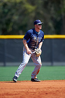 Tampa Bay Rays Riley Unroe (1) during a minor league Spring Training intrasquad game on April 1, 2016 at Charlotte Sports Park in Port Charlotte, Florida.  (Mike Janes/Four Seam Images)