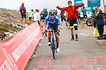 Miguel Angel Lopez Moreno (COL) Movistar Team climbing his way to victory on Stage 18 of La Vuelta d'Espana 2021, running 162.6km from Salas to Alto del Gamoniteiru, Spain. 2nd September 2021.    <br /> Picture: Luis Angel Gomez/Photogomezsport   Cyclefile<br /> <br /> All photos usage must carry mandatory copyright credit (© Cyclefile   Luis Angel Gomez/Photogomezsport)
