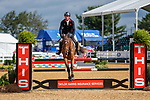 October 17, 2021: Oliver Townend (GBR), aboard Ulises, competes during the Stadium Jumping Final at the 3* level during the Maryland Five-Star at the Fair Hill Special Event Zone in Fair Hill, Maryland on October 17, 2021. Jon Durr/Eclipse Sportswire/CSM