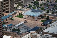 aerial photograph of the Albuquerque Civic Plaza, New Mexico