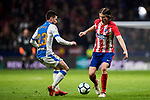 Filipe Luis (R) of Atletico de Madrid competes for the ball with Julian Omar Ramos Suarez, Omar R, of CD Leganes during the La Liga 2017-18 match between Atletico de Madrid and CD Leganes at Wanda Metropolitano on February 28 2018 in Madrid, Spain. Photo by Diego Souto / Power Sport Images