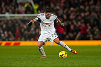 Saturday 11 January 2014 Pictured: Alejandro Pozuelo <br /> Re: Barclays Premier League Manchester Utd v Swansea City FC  at Old Trafford, Manchester