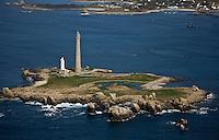Europe/France/Bretagne/29/Finistère: Vue aérienne de l'Ile Vierge