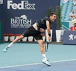 March 26, 2019: Roberto Bautista Agut (ESP) defeated Novak Djokovic (SRB) 1-6, 7-5, 6-3, at the Miami Open being played at Hard Rock Stadium in Miami, Florida. ©Karla Kinne/Tennisclix 2010/CSM
