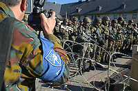- Eurocorps, European multinational army corps, alignment with French, Spanish and German soldiers....- Eurocorps, corpo militare multinazionale europeo,..schieramento con militari francesi, spagnoli e tedeschi