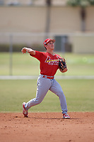 St. Louis Cardinals Tommy Edman (3) during a minor league Spring Training game against the Washington Nationals on March 27, 2017 at the Roger Dean Stadium Complex in Jupiter, Florida.  (Mike Janes/Four Seam Images)