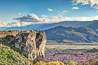 Holy Trinity Monastery or Agia Triada Monastery in the Meteora Monastery complex in Greece