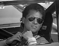 NASCAR Winston Cup driver Greg Sacks straps into the #50 Dingman Brothers Pontiac for the Pepsi Firecracker 400 at Daytona International Speedway in Daytona Beach, FL on July 2, 1988.  Sacks finished 10th in the race. (Photo by Brian Cleary/www.bcpix.com)
