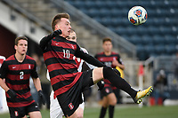 Chester, PA - Sunday December 10, 2017: Corey Baird Stanford University defeated Indiana University 1-0 in double overtime during the NCAA 2017 Men's College Cup championship match at Talen Energy Stadium.