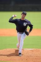 FCL Yankees pitcher Freicer Perez (75) during a game against the FCL Tigers East on July 27, 2021 at the Yankees Minor League Complex in Tampa, Florida. (Mike Janes/Four Seam Images)