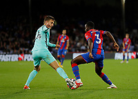 27th September 2021;  Selhurst Park, Crystal Palace, London, England; Premier League football, Crystal Palace versus Brighton & Hove Albion: Joel Veltman of Brighton challenges Tyrick Mitchell of Crystal Palace