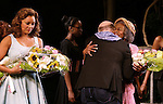 """Vanessa Williams, Director Michael Wilson and Cicely Tyson during """"The Trip To Bountiful"""" Final Performance Curtain Call & Celebration at The Stephen Sondheim Theatre on October 9, 2013 in New York City."""