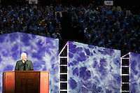 """People turn out in droves as Billy Graham conducts his """"Final Crusade"""" at the age of 86 in New York City on June 24, 2005."""