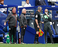 Middlesbrough's bench reacts to a call by referee Dean Whitestone<br /> <br /> Photographer Stephanie Meek/CameraSport<br /> <br /> The EFL Sky Bet Championship - Queens Park Rangers v Middlesbrough - Saturday 26th September 2020 - Loftus Road - London <br /> <br /> World Copyright © 2020 CameraSport. All rights reserved. 43 Linden Ave. Countesthorpe. Leicester. England. LE8 5PG - Tel: +44 (0) 116 277 4147 - admin@camerasport.com - www.camerasport.com