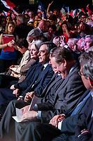 PENELOPE FILLON, FRANCOIS FILLON - MEETING DE FRANCOIS FILLON A PARIS, FRANCE, LE 09/04/2017.