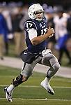 Nevada's quarterback Cody Fajardo (17) runs against San Jose State during the second half of an NCAA college football game in Reno, Nev., on Saturday, Nov. 16, 2013. (AP Photo/Cathleen Allison)