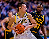23 January 2019: University of Vermont Catamount Guard Robin Duncan, a Freshman from Evansville, IN, in first half action against the UMBC Retrievers at Patrick Gymnasium in Burlington, Vermont. The Catamounts fell to the Retrievers 74-61 who handed the Cats their first America East loss of the season. Mandatory Credit: Ed Wolfstein Photo *** RAW (NEF) Image File Available ***
