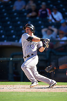 Salt River Rafters Pat Valaika (18), of the Colorado Rockies organization, during a game against the Surprise Saguaros on October 17, 2016 at Surprise Stadium in Surprise, Arizona.  Surprise defeated Salt River 3-1.  (Mike Janes/Four Seam Images)