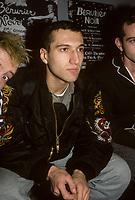 Loran, le chanteur du groupe francais Berurier Noir<br /> en conference de presse aux Foufounes Electriques, club punk de Montreal . <br /> <br /> Date inconnue en 1988<br /> <br /> <br /> PHOTO : Agence Quebec Presse