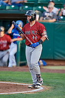 Chase Vallot (44) of the Idaho Falls Chukars comes to bat against the Ogden Raptors at Lindquist Field on August 29, 2018 in Ogden, Utah. Idaho Falls defeated Ogden 15-6. (Stephen Smith/Four Seam Images)