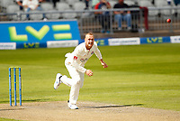 27th May 2021; Emirates Old Trafford, Manchester, Lancashire, England; County Championship Cricket, Lancashire versus Yorkshire, Day 1; Matt Parkinson of Lancashire bowls from the James Anderson End