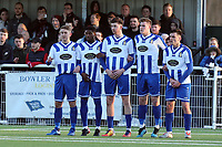 Avery line up a wall during Aveley vs Chelmsford City, Buildbase FA Trophy Football at Parkside on 8th February 2020