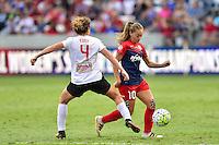 Houston, TX - Sunday Oct. 09, 2016: Elizabeth Eddy, Estefania Banini during the National Women's Soccer League (NWSL) Championship match between the Washington Spirit and the Western New York Flash at BBVA Compass Stadium.