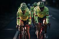 John Degenkolb (DEU/Trek-Segafredo) & Matthias Brändle (AUT/Trek-Segafredo) leading the way at Team Trek-Segafredo Mallorca training camp <br /> <br /> January 2018
