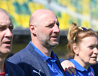 20190301 - LARNACA , CYPRUS : Czech head coach Karel Rada pictured during a women's soccer game between Finland and Czech Republic , on Friday 1 March 2019 at the AEK Arena in Larnaca , Cyprus . This is the second game in group A for Both teams during the Cyprus Womens Cup 2019 , a prestigious women soccer tournament as a preparation on the Uefa Women's Euro 2021 qualification duels. PHOTO SPORTPIX.BE   DAVID CATRY