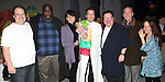 Timothy J. Alex  with Jordan Gelber, Michael Mandell, Beth Leavel, Wayne Knight, Mark Jacoby & Leslie Kritzer attending the Broadway Opening Night Gypsy Robe Ceremony celebrating Timothy J. Alex in 'Elf The Musical' at the Al Hirschfeld Theatre in New York City on 11/18/2012