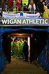 Wigan Athletic 1 Rubin Kazan 1, 24/10/2013. DW Stadium, Europa League Group D. Wigan Athletic embark on their first European campaign having won the FA Cup the previous season. The DW Stadium is temporarily known as The Wigan Athletic Stadium for Europa League fixtures. Rubin Kazan players in the tunnel area before kick off.  Photo by Paul Thompson.
