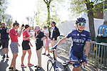 Christina Malling Siggaard (DEN) Team Virtu Cycling at the Team presentation of La Fleche Wallonne Femmes 2018 running 118.5km from Huy to Huy, Belgium. 17/04/2018.<br /> Picture: ASO/Thomas Maheux | Cyclefile.<br /> <br /> All photos usage must carry mandatory copyright credit (© Cyclefile | ASO/Thomas Maheux)