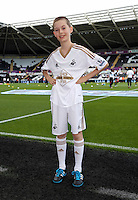 Pictured: Children mascots Saturday 15 August 2015<br /> Re: Premier League, Swansea City v Newcastle United at the Liberty Stadium, Swansea, UK.