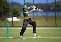 Natalie Dodd bats during the women's Hallyburton Johnstone Shield one-day cricket match between the Wellington Blaze and Central Hinds at Donnelly Park in Levin, New Zealand on Sunday, 6 December 2020. Photo: Dave Lintott / lintottphoto.co.nz