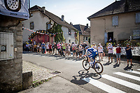 race leader Remi Cavagna (FRA/Deceuninck - QuickStep) making this stage his TT prep for the Worlds 1 week from now...<br /> <br /> Stage 19 from Bourg-en-Bresse to Champagnole (167km)<br /> <br /> 107th Tour de France 2020 (2.UWT)<br /> (the 'postponed edition' held in september)<br /> <br /> ©kramon