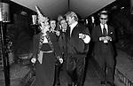 PALOMA PICASSO CON GIL CAGNE' E KARL LAGERFELD<br /> USCITA DEL  JACKIE 0'  ROMA 1978