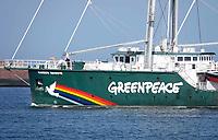 Nederland IJmuiden - 2019. Greenpeace  Raibow Warrior.  . Foto Berlinda van Dam / Hollandse Hoogte