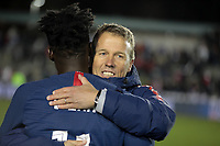 Cary, N.C. - Tuesday March 27, 2018: John Hackworth, Timothy Weah during an International friendly game between the men's national teams of the United States (USA) and Paraguay (PAR) at Sahlen's Stadium at WakeMed Soccer Park.