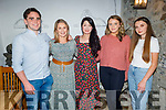 Conor Hall, Catriona Leen, Jo Jo Lane, Lisa O'Mahoney and Emma Moynihan enjoying the evening in Bella Bia on Friday.