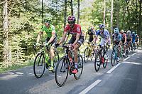 Simon Clarke (AUS/Cannondale-Drapac) &  Jelle Vanendert (BEL/Lotto-Soudal) set the pace in the breakaway group<br /> <br /> stage 7: Aoste > Alpe d'Huez (168km)<br /> 69th Critérium du Dauphiné 2017