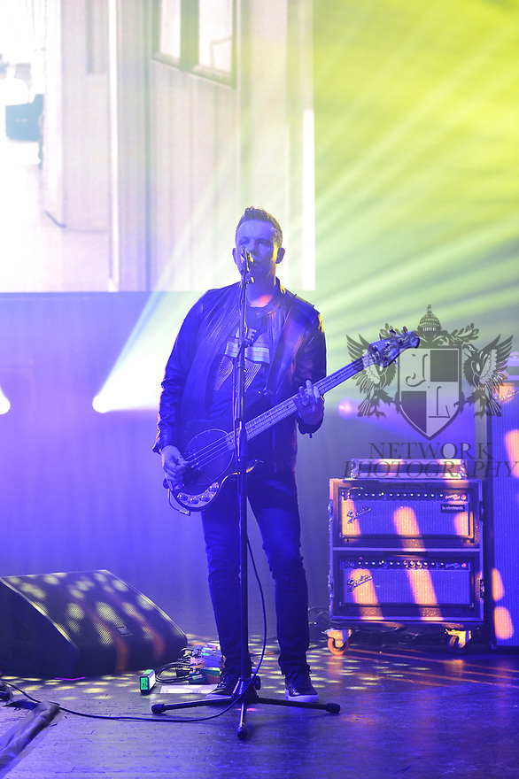 MIAMI BEACH, FLORIDA - JANUARY 18: Tom Chapman of New Order perform on stage at the Fillmore Miami Beach at the Jackie Gleason Theater on January 18, 2020 in Miami Beach, Florida.  ( Photo by Johnny Louis / jlnphotography.com )