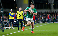 Saturday 1st February 2020 | Ireland vs Scotland<br /> <br /> Andrew Conway during the 2020 6 Nations Championship   clash between Ireland and Scotland at he Aviva Stadium, Lansdowne Road, Dublin, Ireland. Photo by John Dickson / DICKSONDIGITAL
