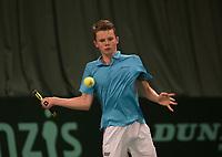 The Hague, The Netherlands, March 17, 2017,  De Rhijenhof, NOJK 14/18 years, Jesper de Jong (NED)<br /> Photo: Tennisimages/Henk Koster