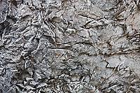 Beautiful hoar frost patterns on a rock surface, Sweden