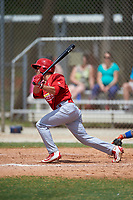 St. Louis Cardinals Mikey Reynolds (38) bats during a Minor League Spring Training game against the New York Mets on March 31, 2016 at Roger Dean Sports Complex in Jupiter, Florida.  (Mike Janes/Four Seam Images)