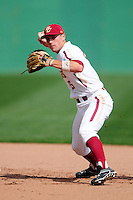 Boston College Eagles shortstop Johnny Adams (25) prior to a game versus the Hartford Hawks at Pellagrini Diamond at Shea Field on May 9, 2015 in Chestnut Hill, Massachusetts.  (Ken Babbitt/Four Seam Images)