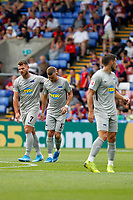 GOAL - Maximilian Mittelstädt of Hertha Berlin celebrate again during the pre season friendly match between Crystal Palace and Hertha BSC at Selhurst Park, London, England on 3 August 2019. Photo by Carlton Myrie / PRiME Media Images.