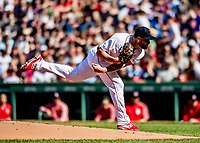 Jun 22, 2019; Boston, MA, USA; Boston Red Sox starting pitcher Brian Johnson on the mound in the first inning against the Toronto Blue Jays at Fenway Park. Mandatory Credit: Ed Wolfstein-USA TODAY Sports